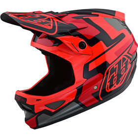 Troy Lee Designs D3 Fiberlite Sykkelhjelmer speedcode/red